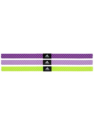 adidas Women Shimmy Hairbands 3-Pack Purple/Slime