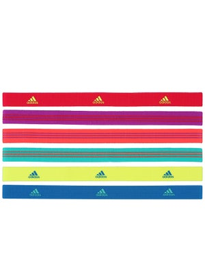 adidas Women Sidespin Hairbands 6-Pack Vibrant