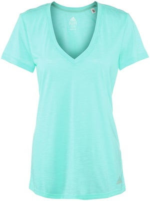 adidas Women's Summer Boyfriend V-Neck Top