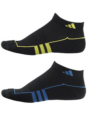 adidas Youth ClimaLite Low Cut 2 Pk Socks Blue/Yl