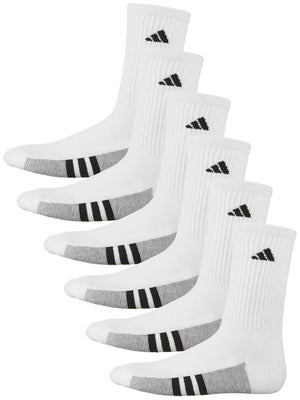 adidas Youth Graphic Crew 6-Pack Socks White