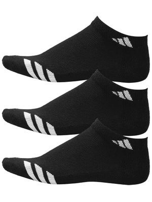 adidas Youth Striped 3-Pack Low-Cut Socks Black
