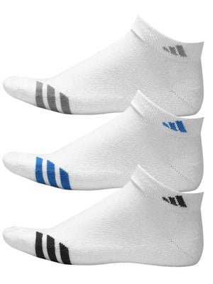 adidas Youth Striped 3-Pack Low-Cut Socks White