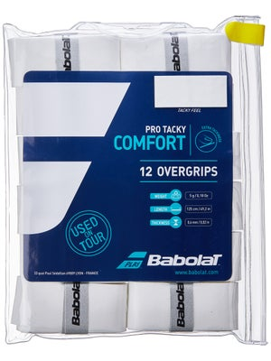 Babolat Pro Team Tacky Overgrip 12-pack Black