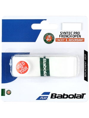 Babolat Syntec Pro Replacement French Open Grips White