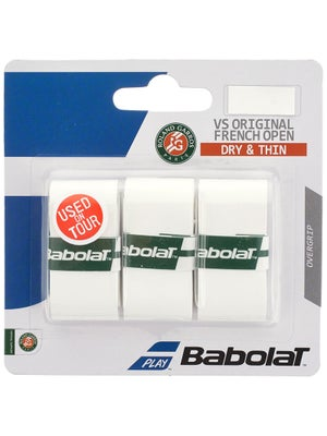 Babolat VS Overgrip French Open White 3-Pack