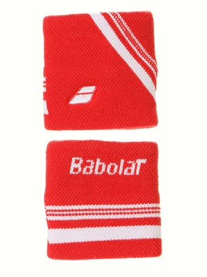 Babolat Singlewide Double Line Wristband Red