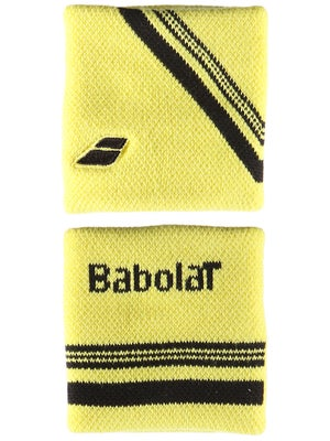 Babolat Singlewide Double Line Wristband Yellow