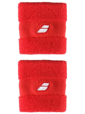 Babolat Singlewide Wristbands II Red