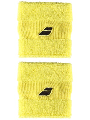 Babolat Singlewide Wristbands II Yellow