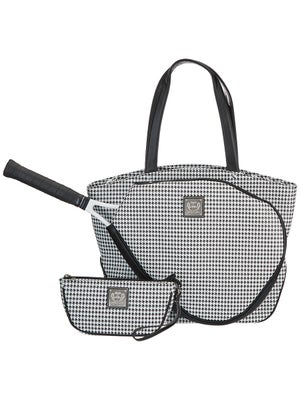 Product Image Of Court Couture Cassanova Houndstooth Bag Black