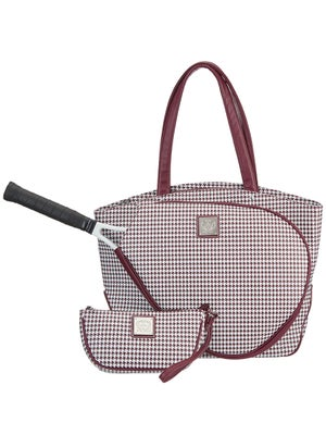 Product Image Of Court Couture Cassanova Houndstooth Bag Merlot