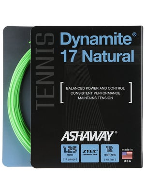 Ashaway Dynamite 17 Natural String Optic Green