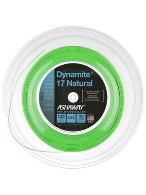 Ashaway Dynamite 17 Natural Optic Green String 360 Reel