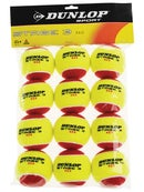 Dunlop Stage 3 Ball Red/Yellow Felt Ball 12 Pack