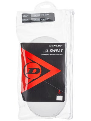 Dunlop U-Sweat Overgrip White 30-Pack Roll