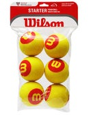 Wilson Starter 36' Red Foam Tennis Balls 6-Pack