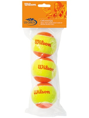 Wilson Starter 60' Orange Tennis Balls (3-Pack)