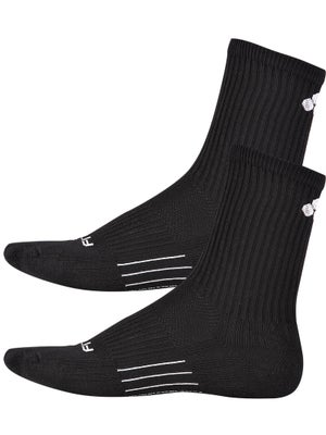 Fitsok CF2 Crew Cushion 2 Pack Socks Black