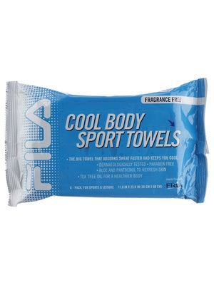 Fila Cool Body Sport Towel 6 Pack - Fragrance Free
