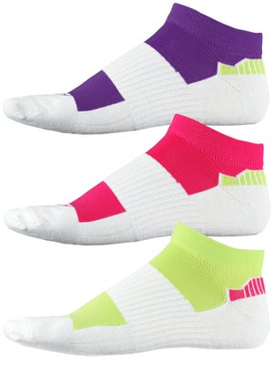 Fitsok CX3 Tech Low 3 Pack Jewelpop Socks Lime/Pur/Pk
