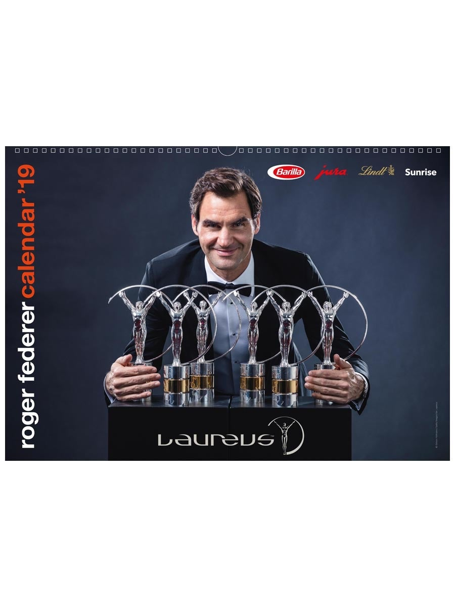Roger Federer 2019 Official Calendar