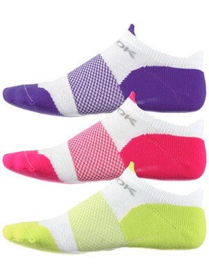 Fitsok F4 Tech No-Show 3 Pack Jewelpop Sock Lime/Pur/Pk