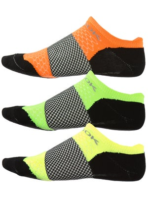 Fitsok F4 Tech No-Show 3 Pack Neopop Socks Ye/Gr/Or