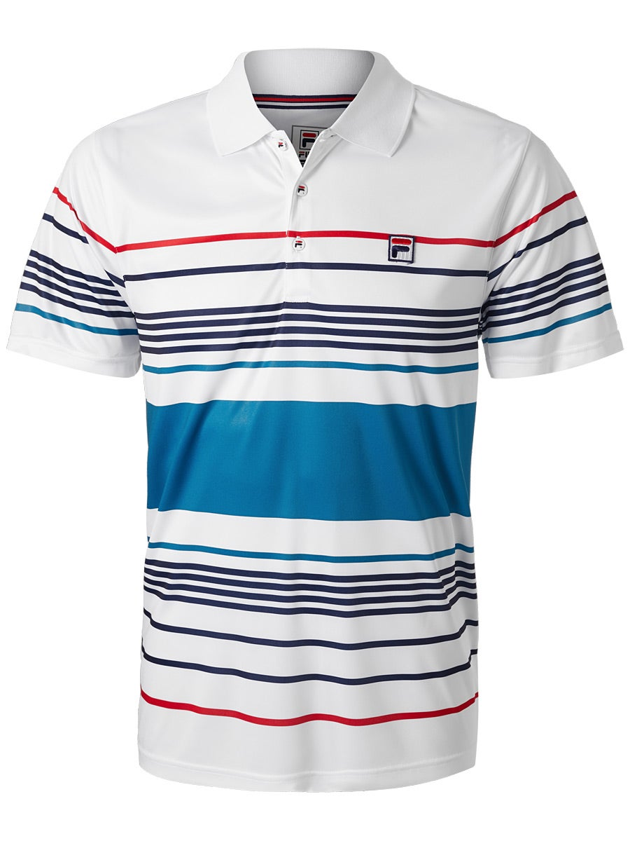 e483309f Fila Mens Heritage Striped Polo Clothing
