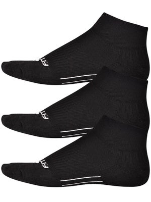 Fitsok CF2 Quarter Cushion 3 Pack Socks Black
