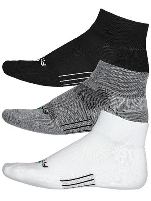 Fitsok CF2 Quarter Cushion 3 Pack Socks Bk/Wh/Gy