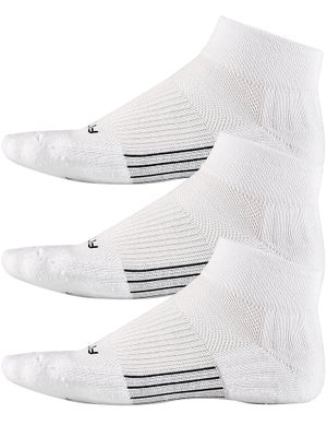 Fitsok CF2 Quarter Cushion 3 Pack Socks White