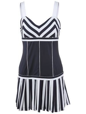 Fila Women's Spring Heritage Mitered Stripe Dress