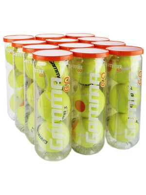 Gamma 60 Orange Dot Balls 12 Can Case
