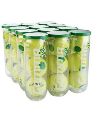 Gamma 78 Green Dot Balls 12 Can Case