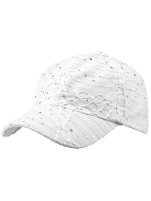 The Alabama Girl Glitter Hat White
