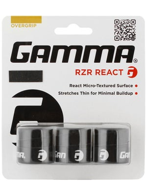 Gamma RZR React Overgrip 3 Pack