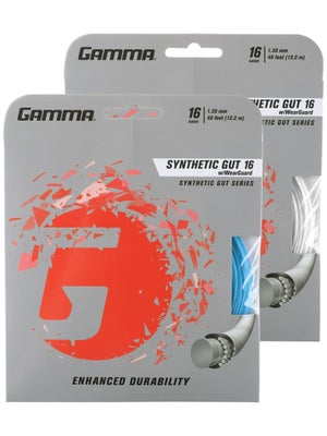 Gamma WearGuard Synthetic Gut 16 String White