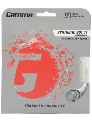 Gamma WearGuard Synthetic Gut 17 String White