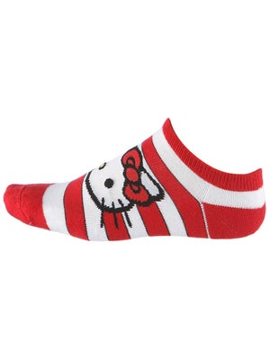 Hello Kitty Women's Polka Stripe Sports Socks Red