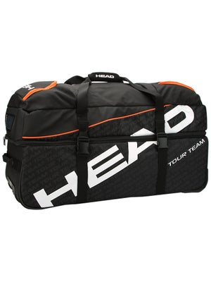 Head Tour Team Black/Orange Travel Bag w/Wheels