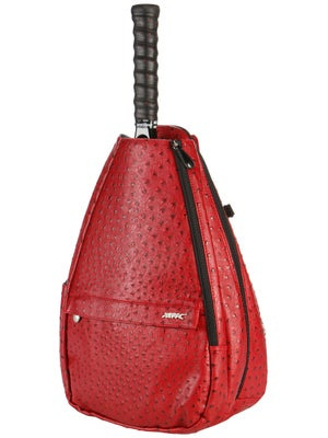 Jet Small Sling Convertible Bag Ostrich Crimson