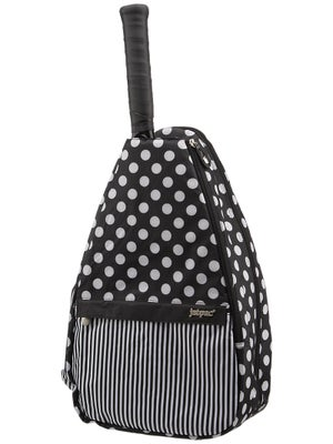 Jet Small Sling Bag Black & White Dot/Stripe