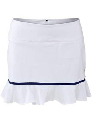 Jofit Women's Ruffle Bottom Skort White/Navy