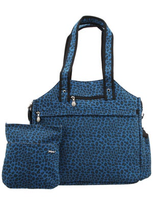 Jet Tote Bag Blue Suede Cheetah