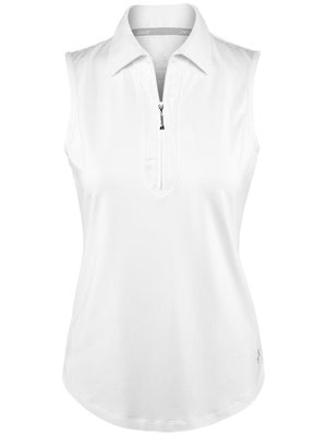 2ab037d39b3 Product image of Jofit Women s Essential Jacquard Sleeveless Polo -White