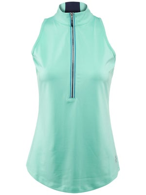 Jofit Women's Hermosa Color Zip Sleeveless Top