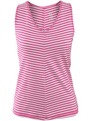 Jofit Women's Morocco Sleek V-Neck Stripe Tank