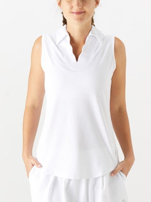 cd5102231a0 Product image of Jofit Women s Essential Scallop Sleeveless Polo - White