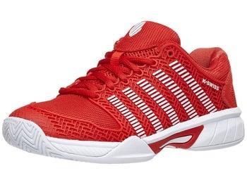 4a42669308a01 KSwiss Hypercourt Express Red/White Junior Shoe